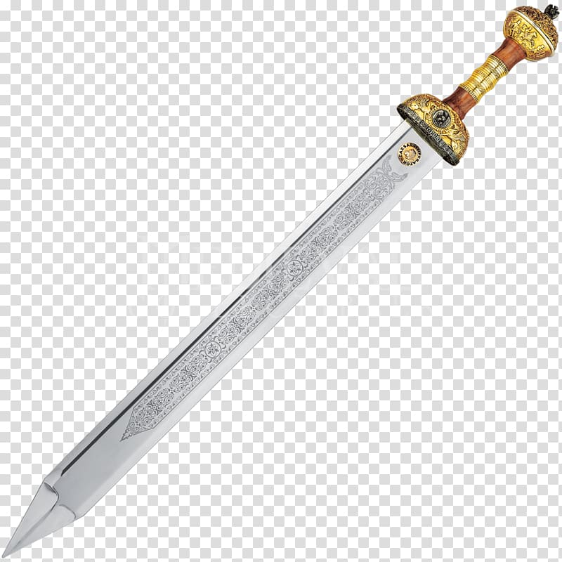 Brown Medieval sword illustration, Roman Empire Ancient Rome.
