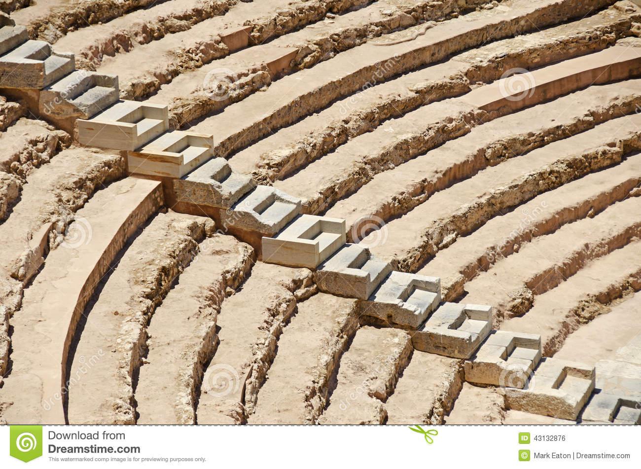 Roman Amphitheatre, Spain Stock Illustration.
