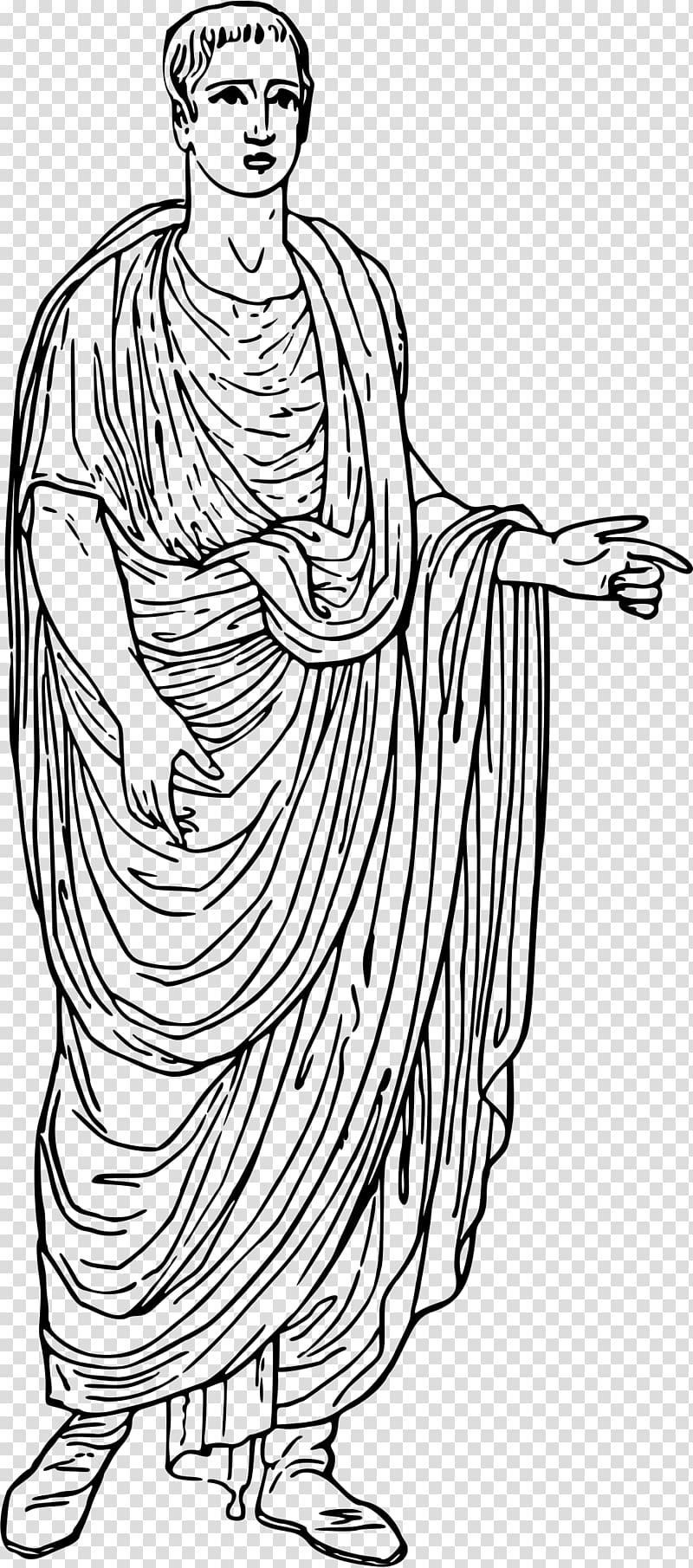 Ancient Rome Colosseum Augustus Toga , toga transparent.