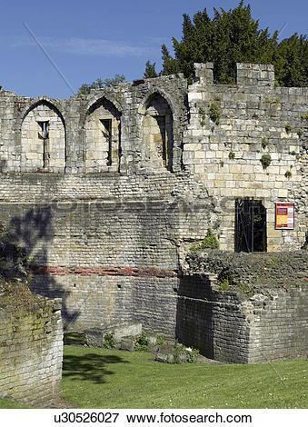 Picture of England, North Yorkshire, York. The Multangular Tower.