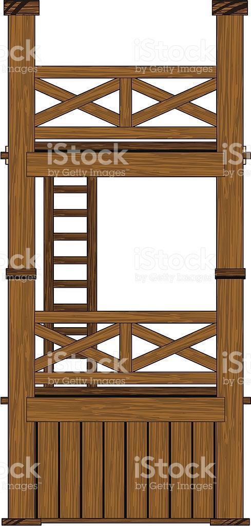 Wooden Roman Tower stock vector art 166083362.