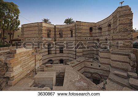 Picture of Roman Tower at Coptic Cairo, Egypt 3630867.