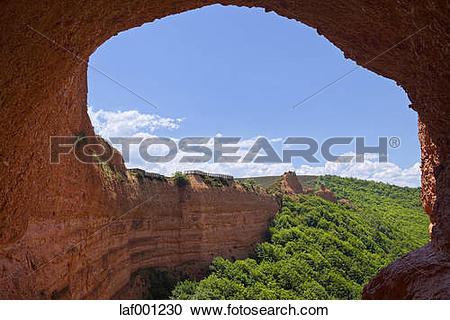Stock Photography of Spain, Castile and Leon, Las Medulas, Mina de.