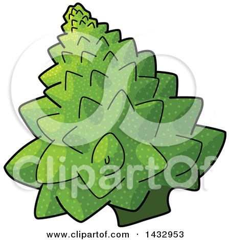Clipart of a Happy Broccoli Mascot.