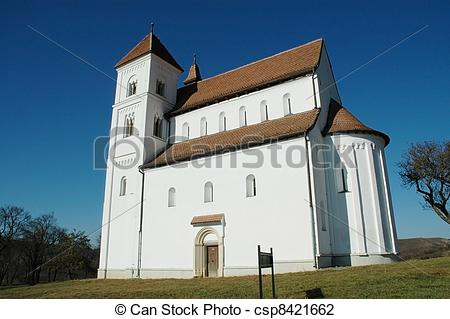 Stock Photo of Harina romanesque church, Romania.