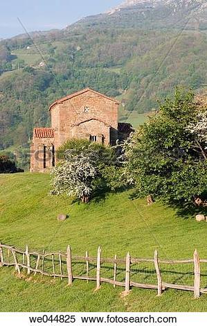 Stock Image of Santa Cristina de Lena pre.