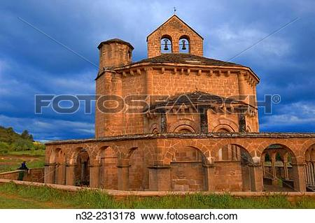 Pictures of Santa María de Eunate, Romanesque church. Eunate.