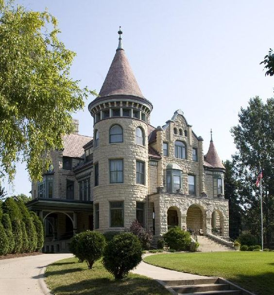 richardsonian romanesque revival mansion.