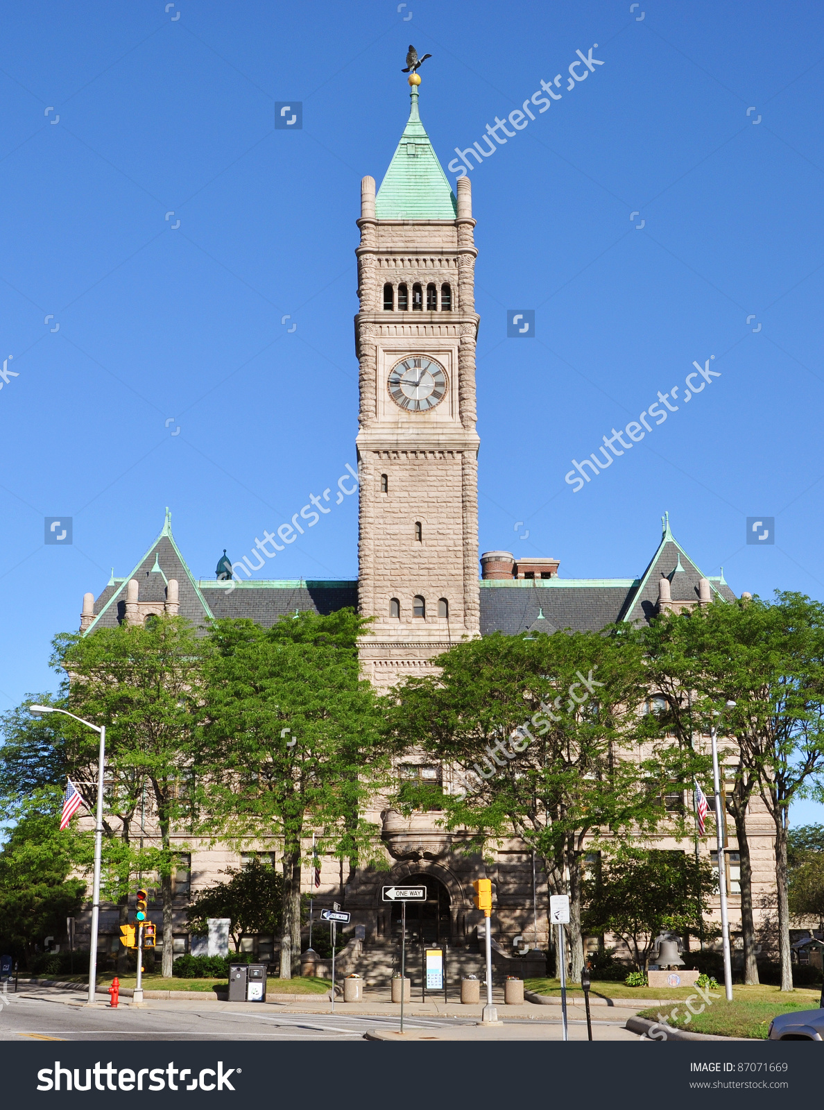 Lowell City Hall Romanesque Revival Style Stock Photo 87071669.