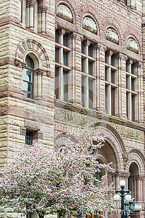 Romanesque Revival Architecture, Old City Hall, Toronto Editorial.