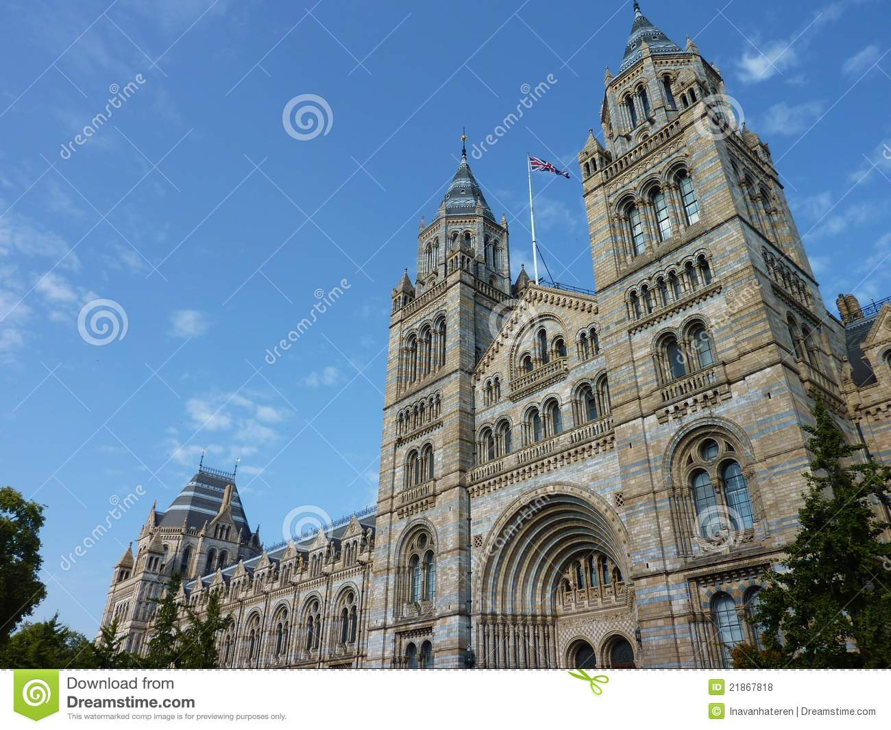 Historical Romanesque Revival Building Royalty Free Stock Photos.