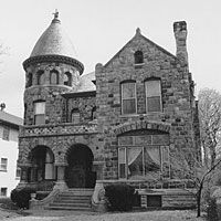 The Charles LaDow House, designed by Ernest Hoffman in the.