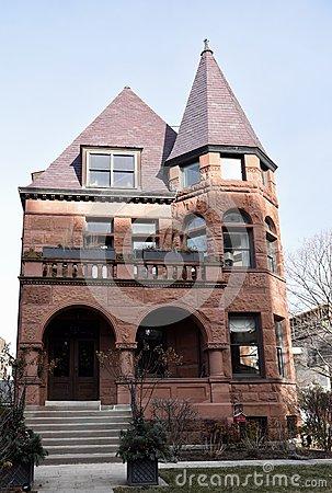 Romanesque Revival Mansion Editorial Stock Photo.
