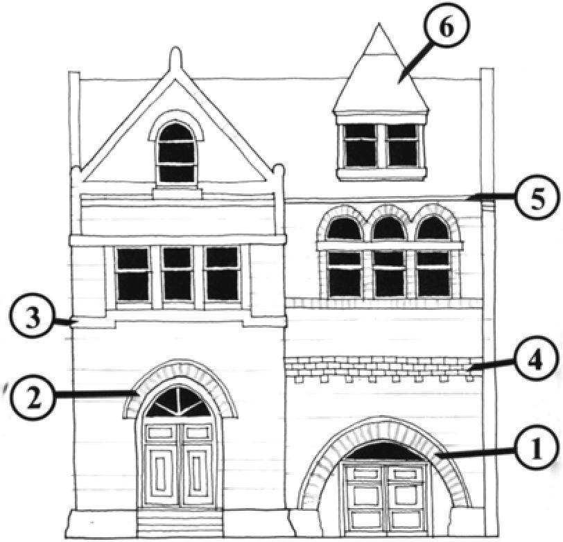 Архитектурные стили зодчества. Виннипег, Манитоба, Канада..
