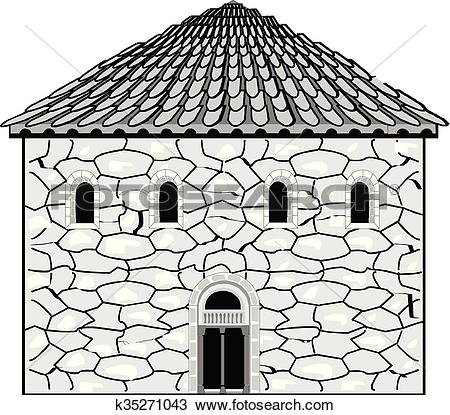 Clipart of Romanesque style in architecture k35271043.