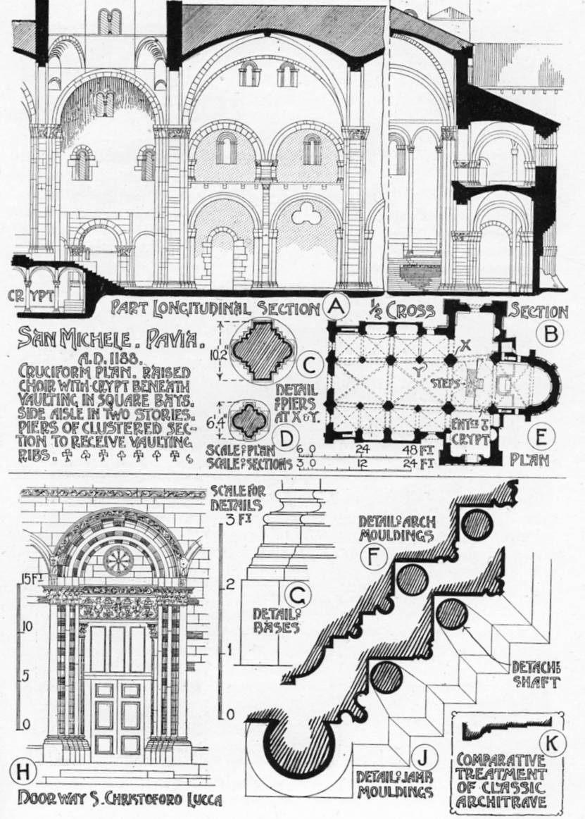 Romanesque plans and elevations Graphic History of Architecture by.