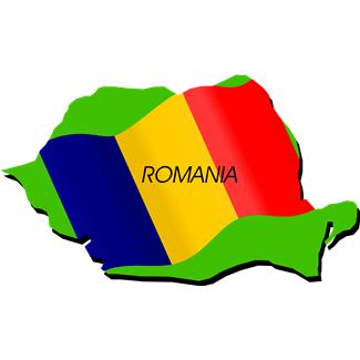 Clip Art Flag of Romania.