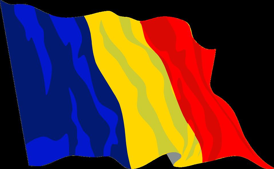Clip Art Flag of Romania.