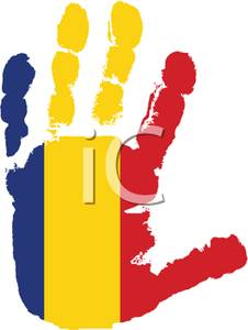 of Romania Handprint.