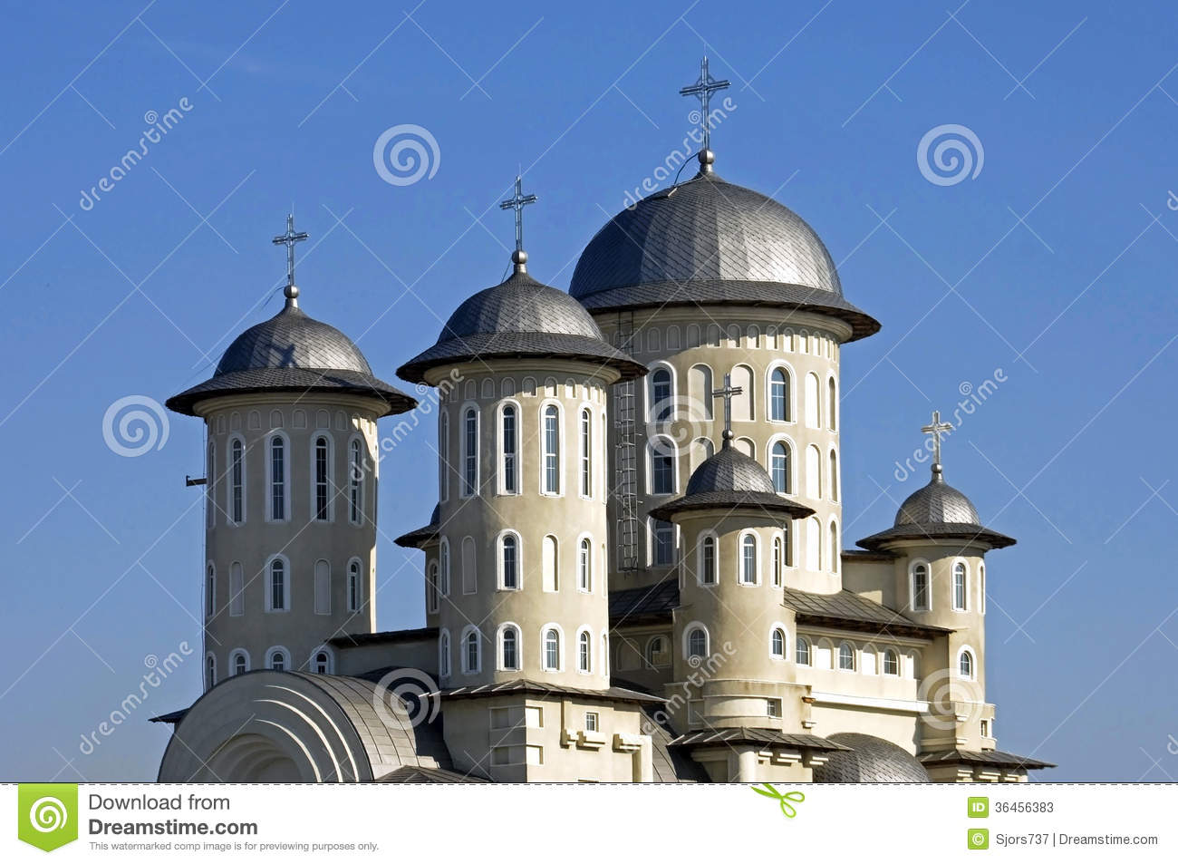 Romanian Orthodox Church, City Bacau, Romania Stock Photos.