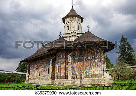 Stock Photography of The Moldovita Monastery is a Romanian.