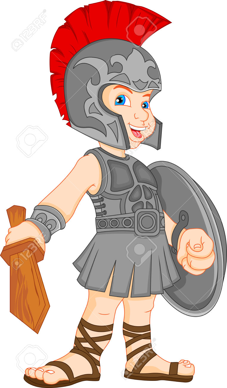 Boy Wearing Roman Soldier Costume Royalty Free Cliparts, Vectors.