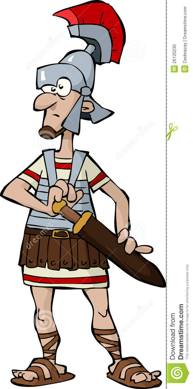 Roman Legionnaire Stock Photo.