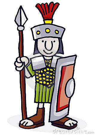 Roman Soldier Clipart.