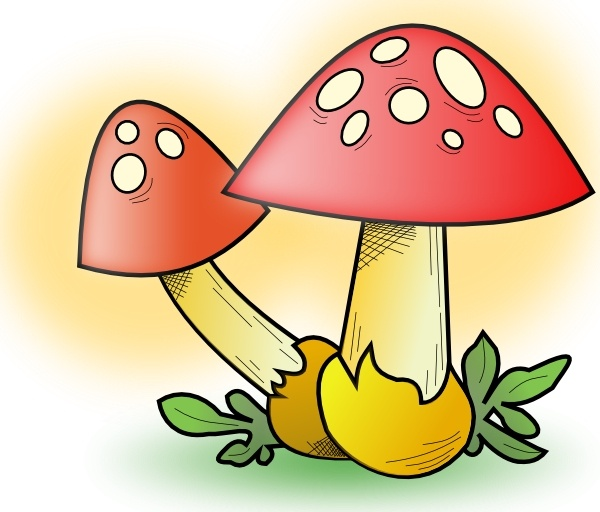 Romanov Mushroom clip art Free vector in Open office drawing svg.
