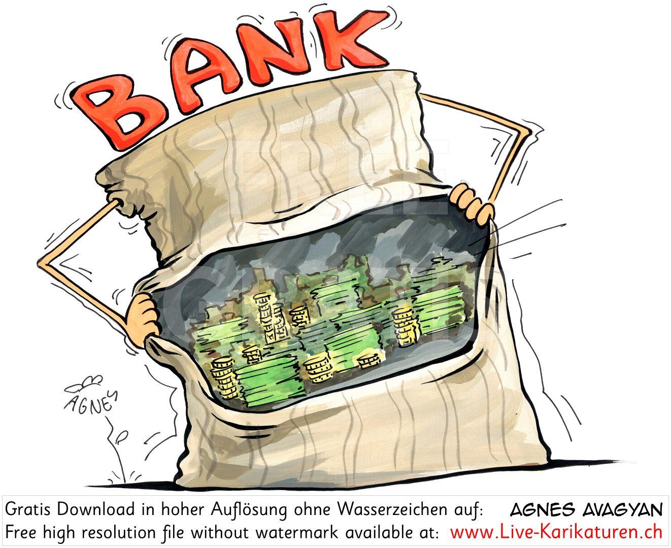 Bank Geld Kredit Geldspeicher.