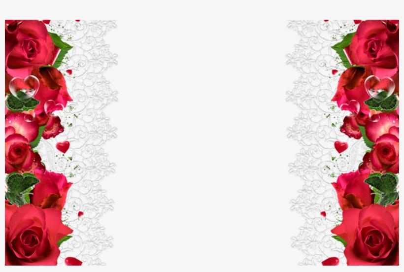 Rose Flower Red Clip Art Romantic Rose Decorative Border.