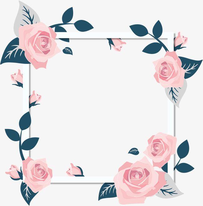 Romantic Purple Flower Bunny Border, Romantic, Frame, Card.