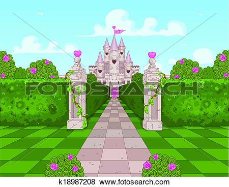 Clip Art of Romantic Castle k18987208.