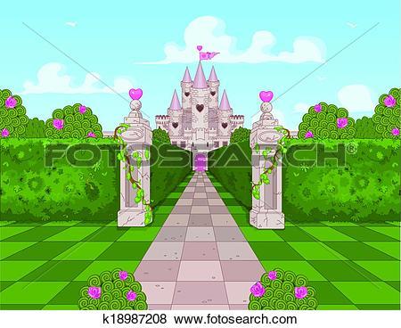 Clip Art of Romantic Castle k18987208.