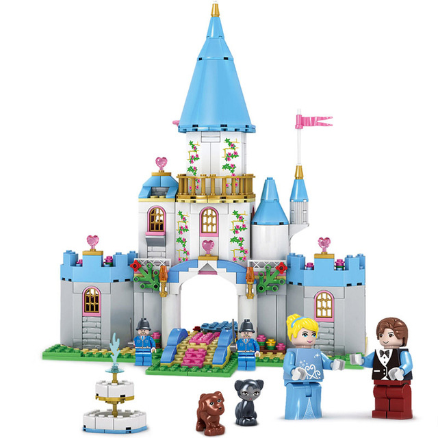 Kazi 529pcs Cinderella Romantic Castle Building Blocks Toys For.
