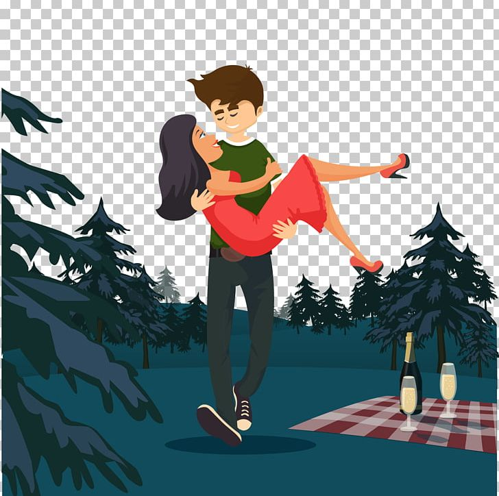 Romance Animation Couple PNG, Clipart, Boy, Camping, Cartoon.
