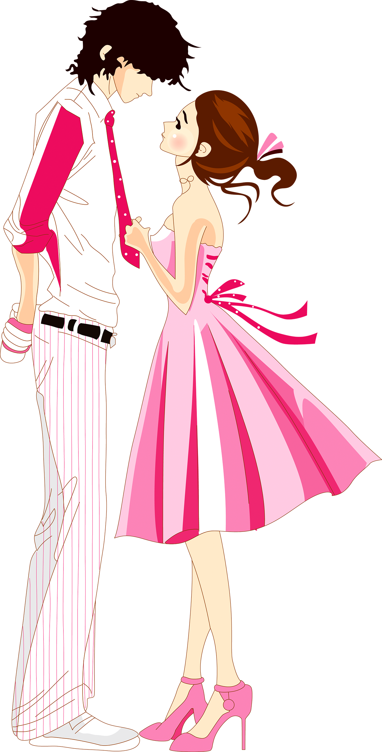 Download Love Romantic Cartoon Png PNG Image with No.