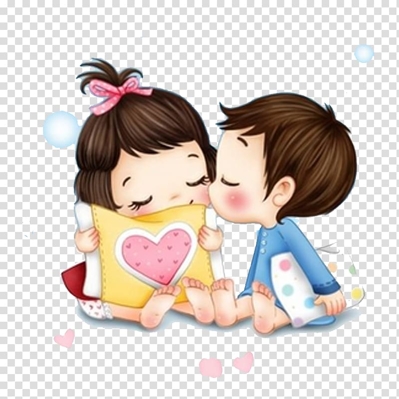 Girl and boy illustration, iPhone 5s Love Romance , Cartoon.