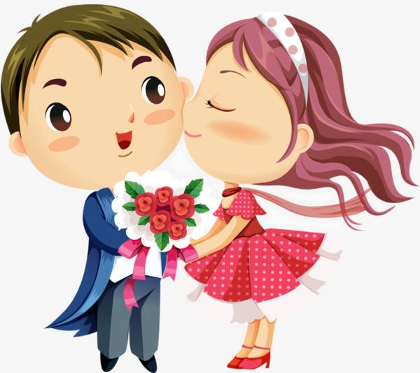 Love Couple Cartoon Image.