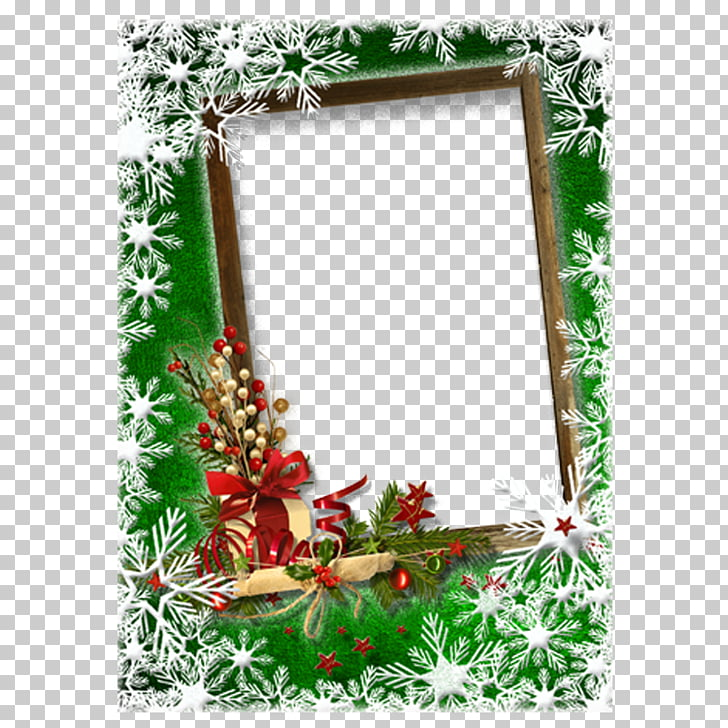 Christmas card New Year frame Greeting card, Romantic.