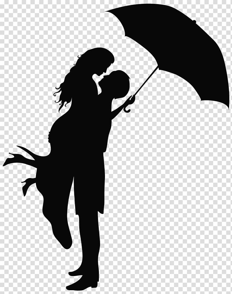 Romance Drawing , Romantic Couple Silhouettes , man lifting.
