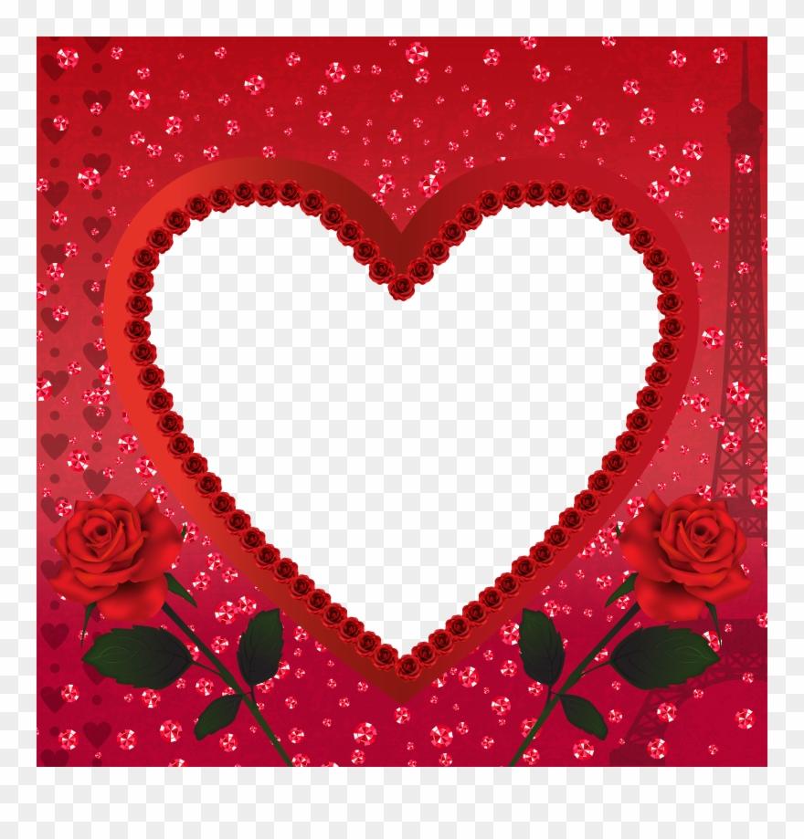 Heart Romantic Love In Paris Png Transparent Frame.