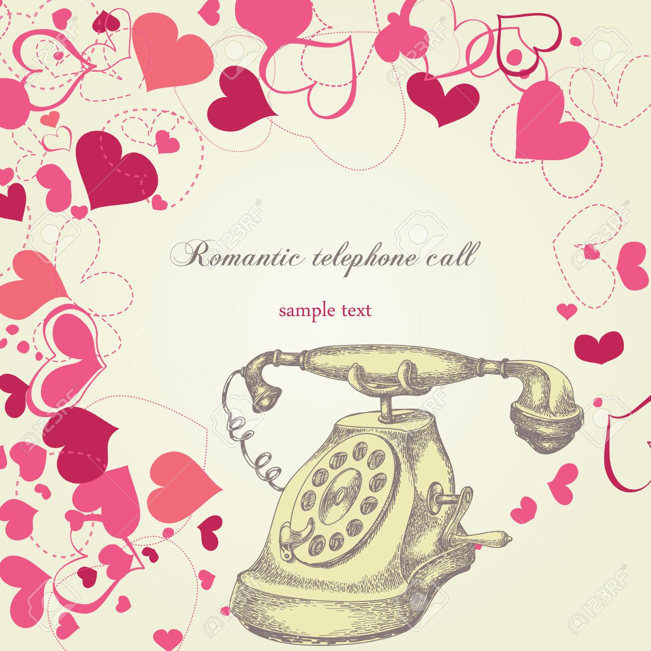 Telefonata Romantica Clipart Royalty.