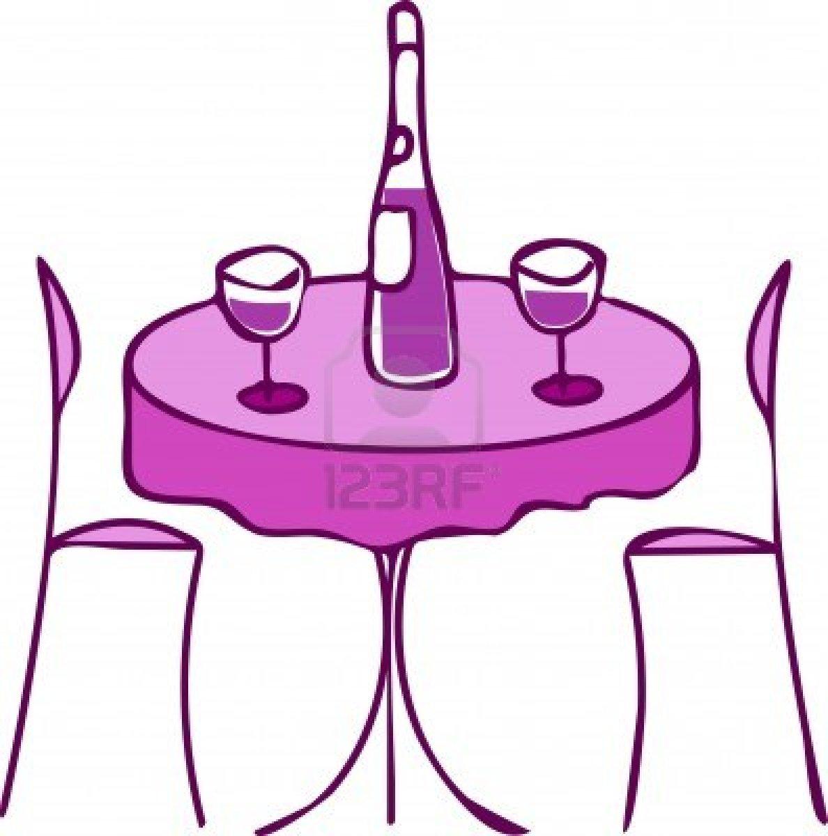 Dinner Table Clip Art.