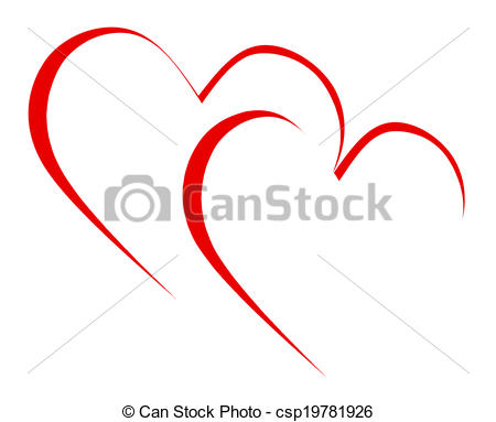 Clip Art of Intertwined Hearts Mean Romanticism Togetherness And.