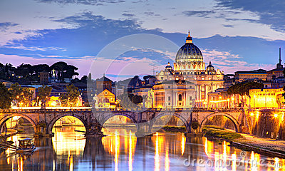 Rome At Night Stock Image.