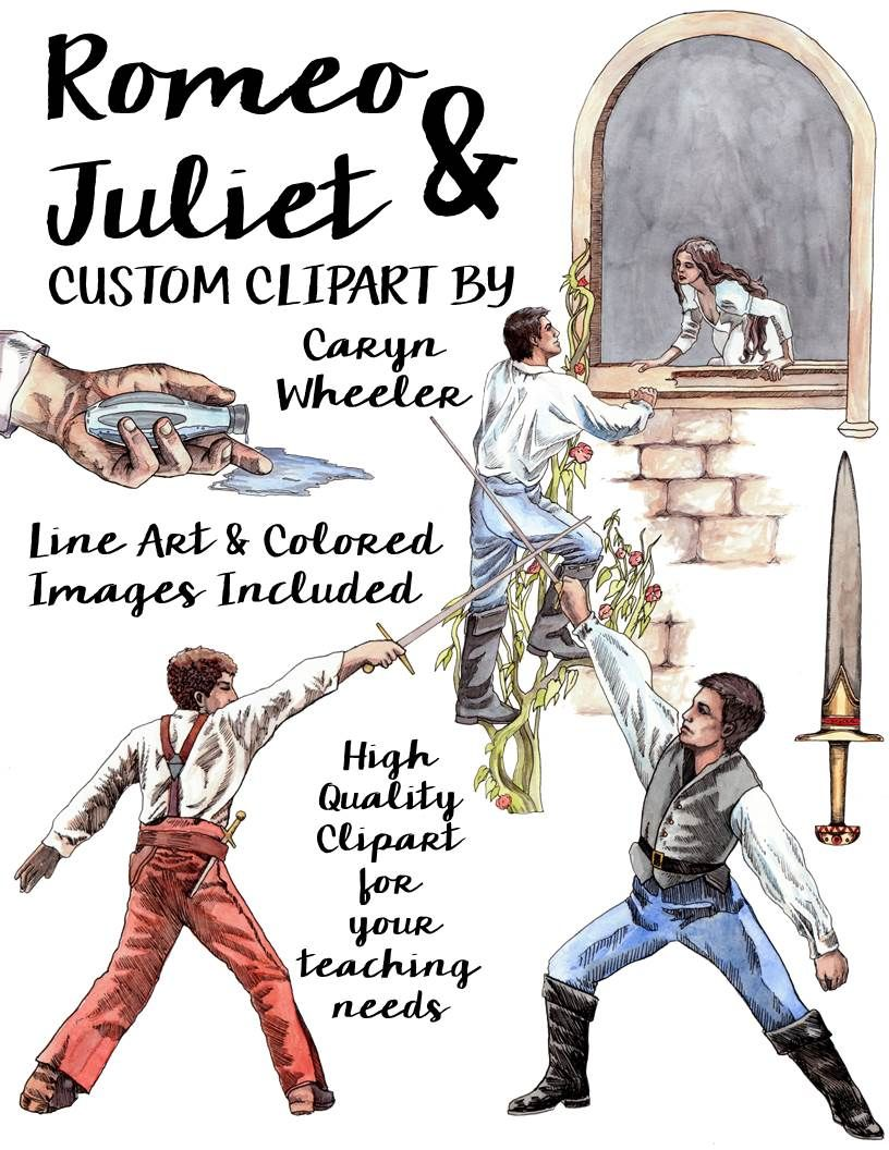 William Shakespeare\'s, Romeo and Juliet Clip Art Package.