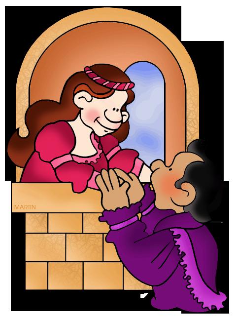 Free Art Clip Art by Phillip Martin, Romeo and Juliet.