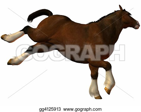 Charger horse clipart.