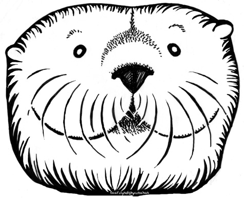 Otter face clipart.